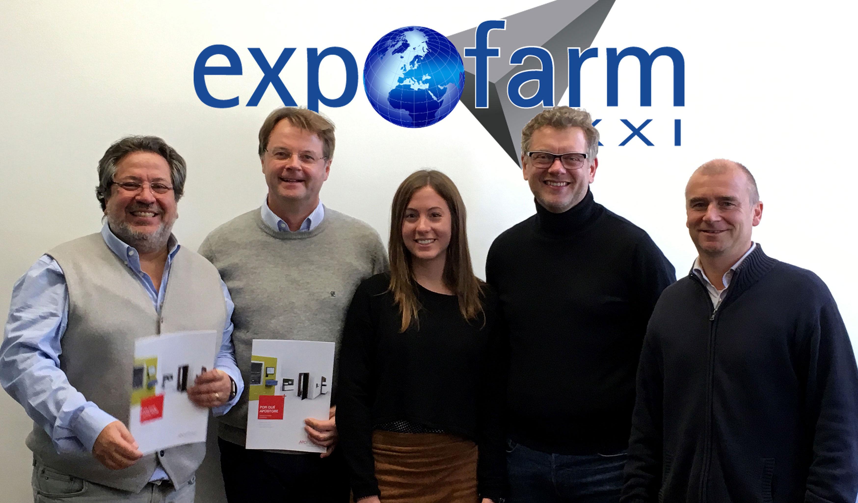 Expofarm recibe la visita de los principales directivos de Apostore