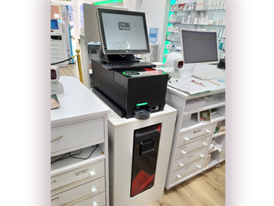 CashProct encima el mostrador e integrado