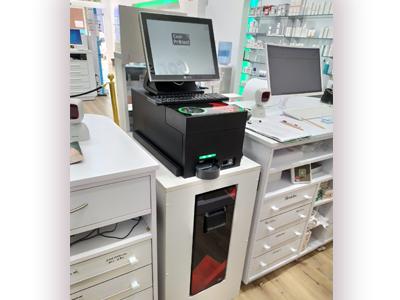 CashProtect integrado y encima mostrador