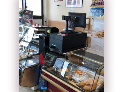 El sistema de gestión de efectivo CashProtect en una panadería