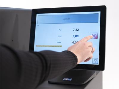 la pantalla del sistema de gestión de efectivo CashPortect