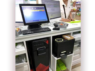 El sistema de control de efectivo en el mostrador