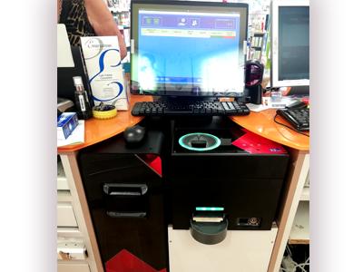 CashProtect semi integrado en el mostrador