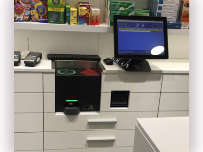 El sistema de control de efectivo CashProtect integrado en el mostrador