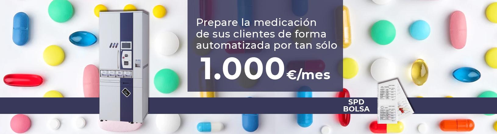 Máquina SPD automatizada para blisters de farmacia