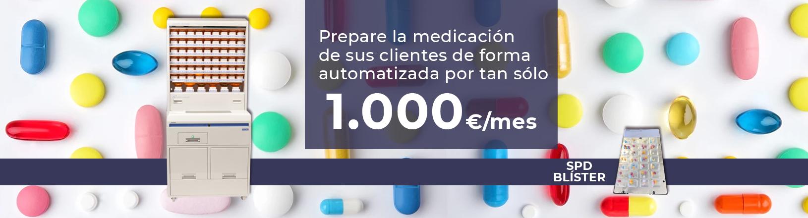 Máquina SPD automatizada de blisters para farmacia